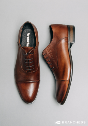 Leather shoes - brown