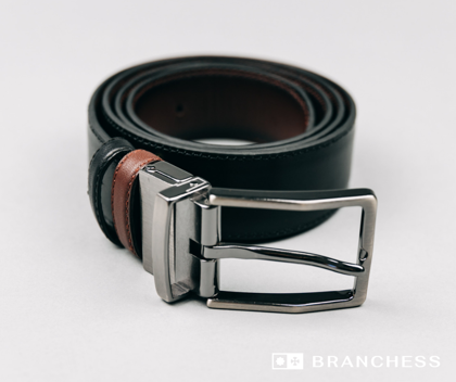 Double-sided leather strap