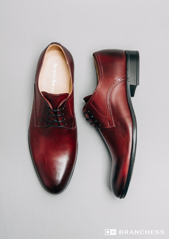 Leather shoes - burgundy