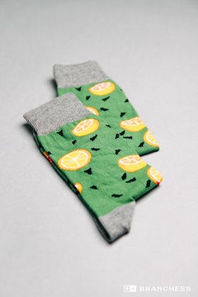 Long socks with lemons