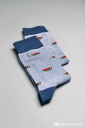 Long socks with  watermelon