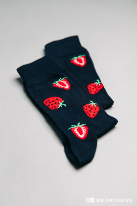 Long socks with  strawberries