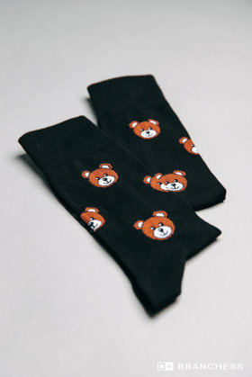 Long socks with bear