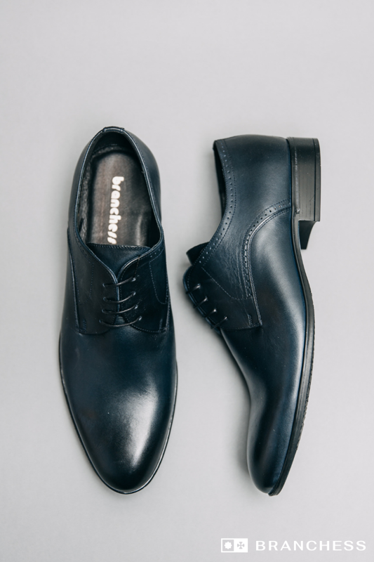 Leather shoes - dark blue